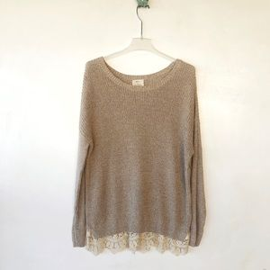 Pins and Needles oversized sweater sz small